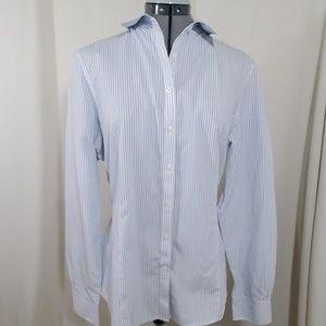 BROOKS BROTHERS Blue Striped Shirt  Size 14